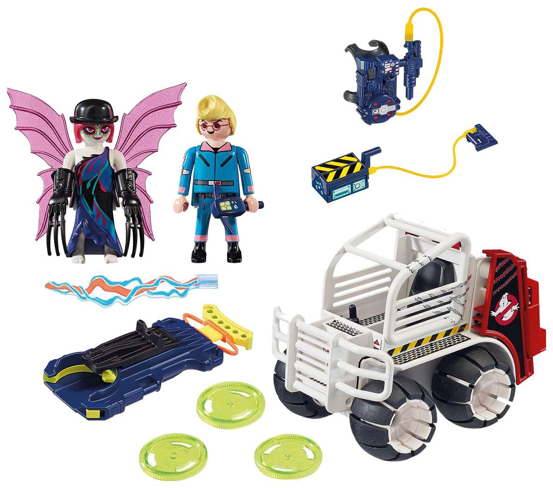 Игровой набор Playmobil Охотники за привидениями: Спенглер с клеткой-автомобилем фото