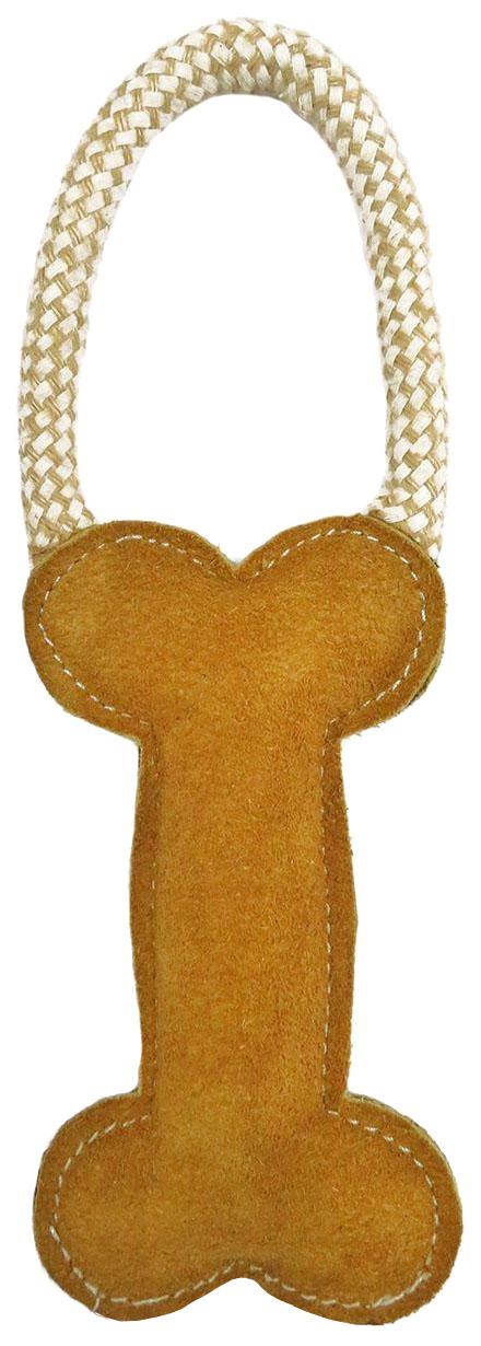 Жевательная игрушка для собак Ankur Кость C петлей из буйволиной кожи, 25 см