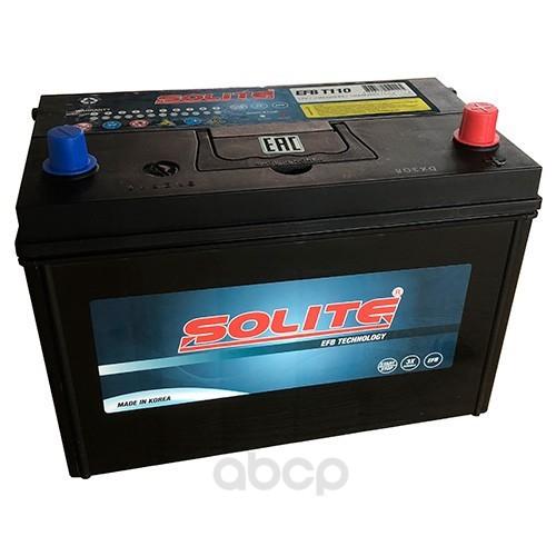 Аккумулятор автомобильный Solite EFBT110 START-STOP 90А/ч 880А полярность обратная фото