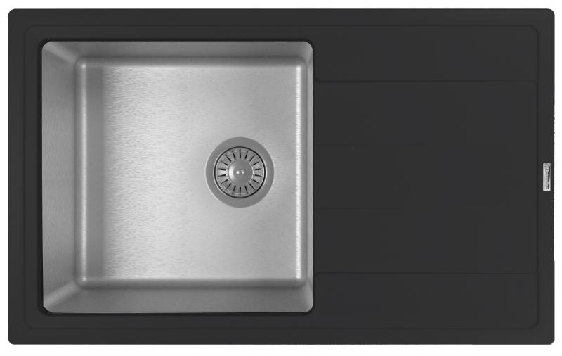 Мойка для кухни комбинированная Florentina Комби 780, антрацит фото