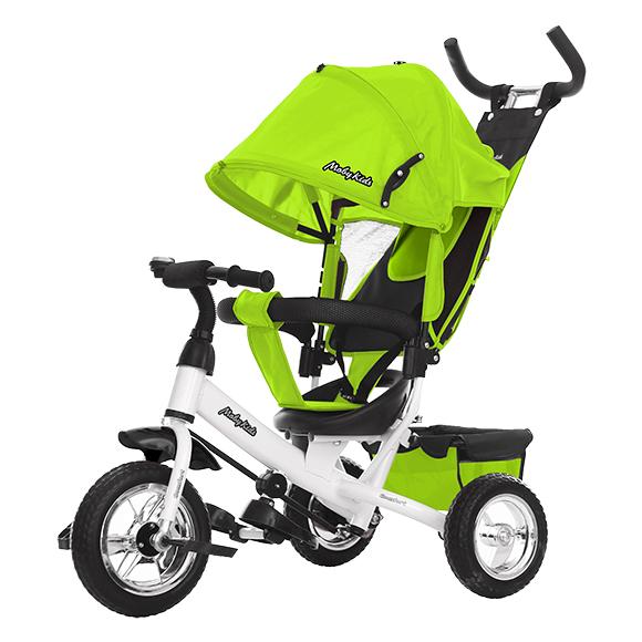 Купить Велосипед трехколесный Comfort зеленый 641222, Moby Kids, Детские велосипеды-коляски
