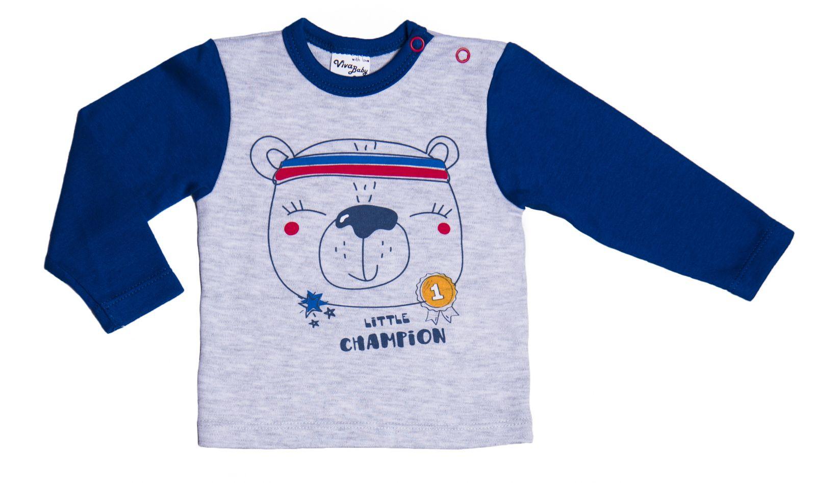 Купить Лонгслив Viva Baby М5502-2 Синий 62р., Кофточки, футболки для новорожденных