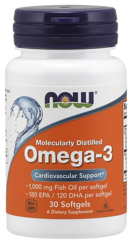 Omega-3 NOW 30 капс. фото
