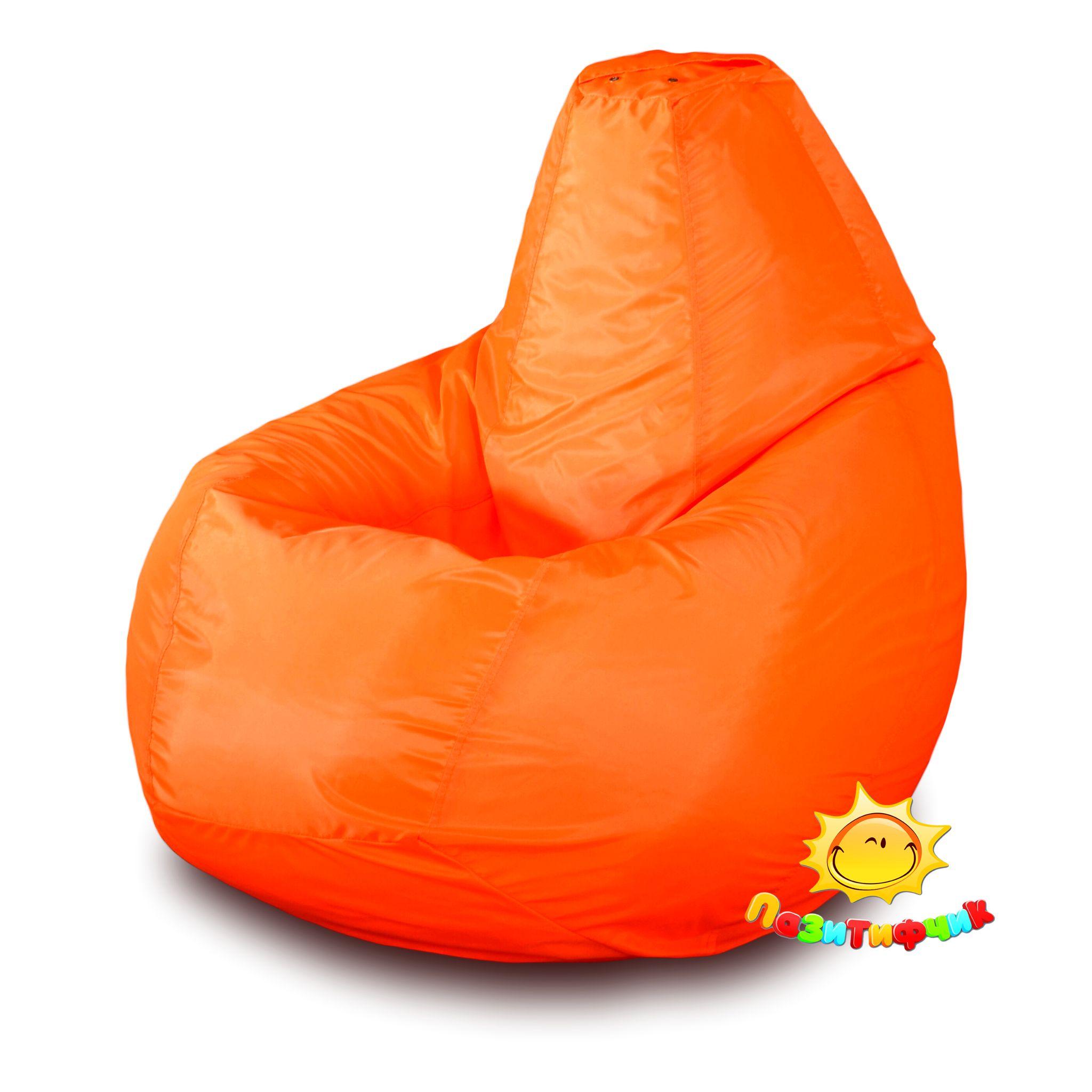 Кресло-мешок Pazitif Груша Пазитифчик Оксфорд, размер XXXL, оксфорд, оранжевый