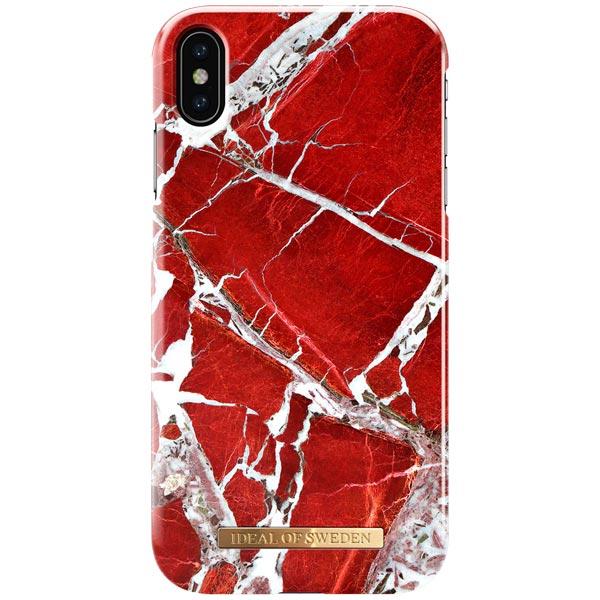 Чехол iDeal Of Sweden для Apple iPhone XS Max (IDFCS18-I1865-71), iPhone Xs Max Scarlet Red Marble  - купить со скидкой