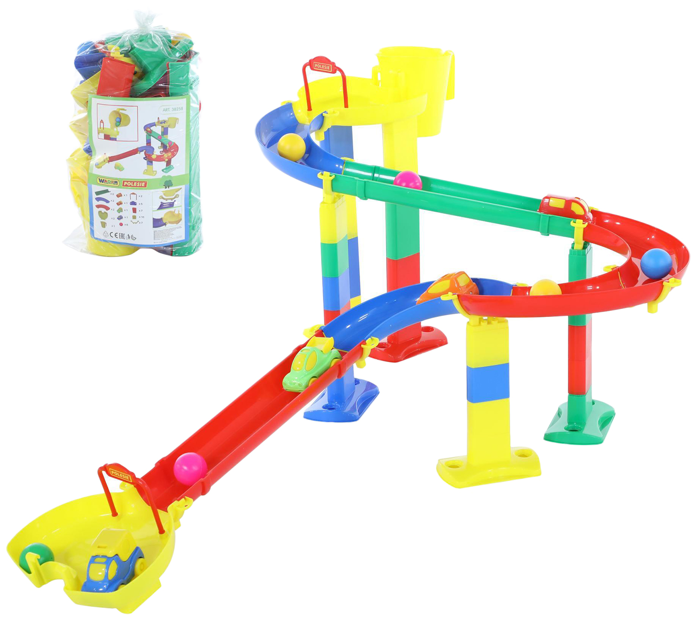 Купить Парковки, гаражи, автотреки, Автотрек Wader Горка для шариков набор №1 38258_PLS, Детские автотреки