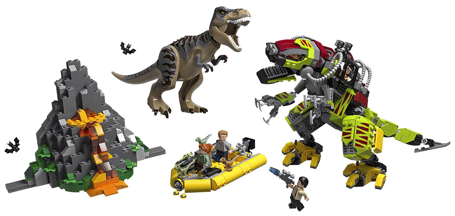 LEGO Jurassic World Бой тираннозавра и робота-динозавра фото