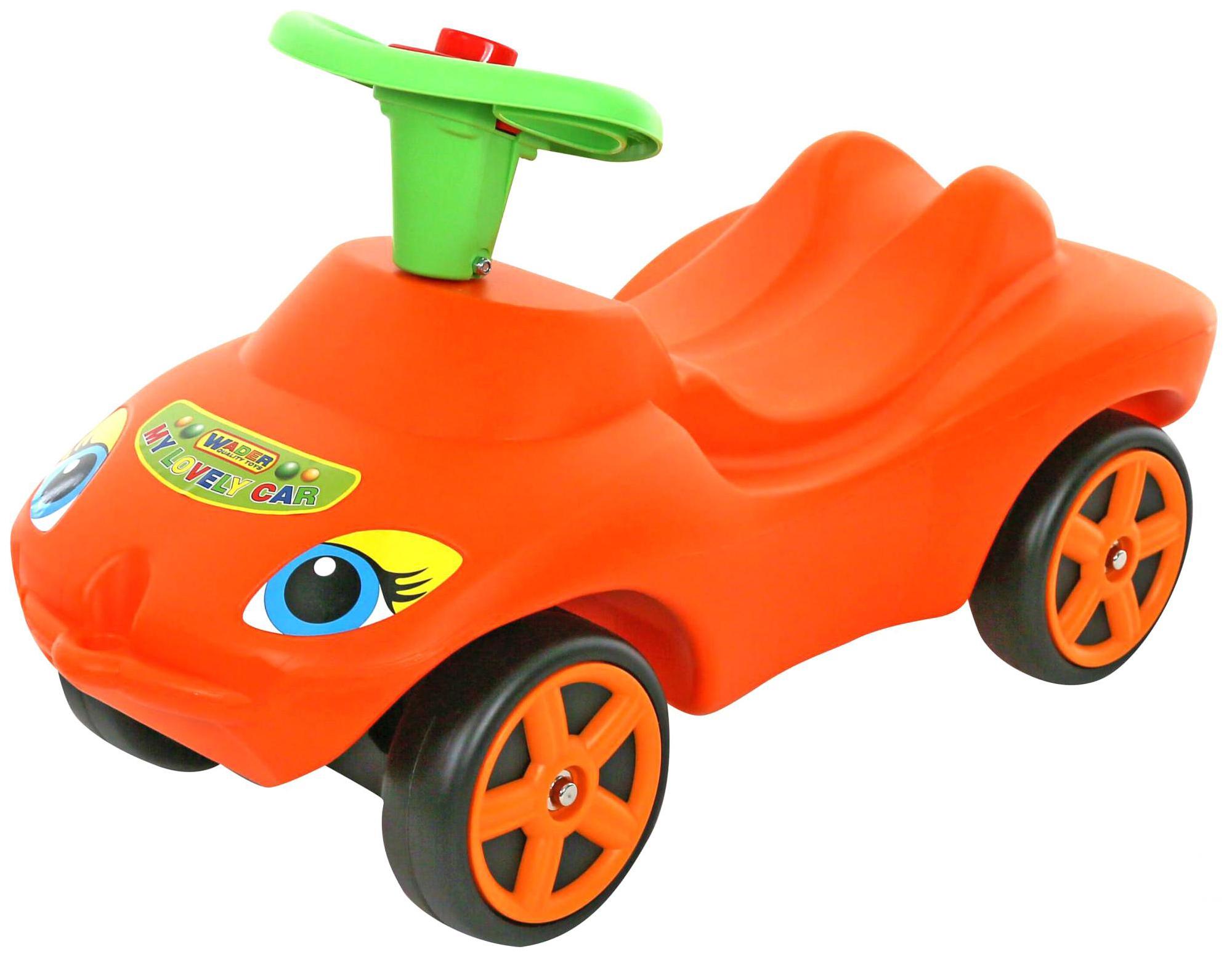 Купить Детский транспорт, Машина-каталка Полесье Мой любимый автомобиль Оранжевый со звуковым сигналом, Wader, Машинки каталки