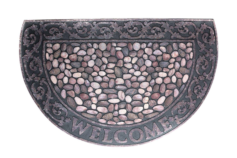 Коврик придверный Domcraft Welcome Камешки