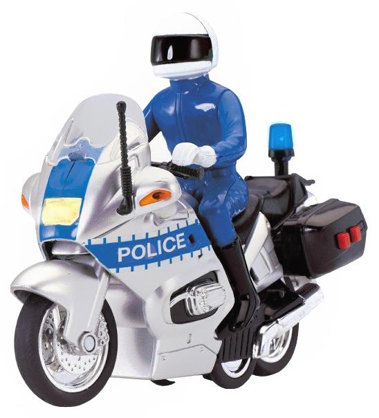 Инерционная модель полицейского мотоцикла Police (свет, звук)