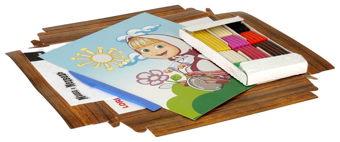 Купить LORI Картина из пластилина Маша на велосипеде Пкш-003, Лепка