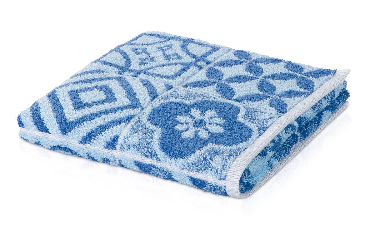 Банное полотенце, полотенце универсальное Move BUENOS AIRES белый, синий фото