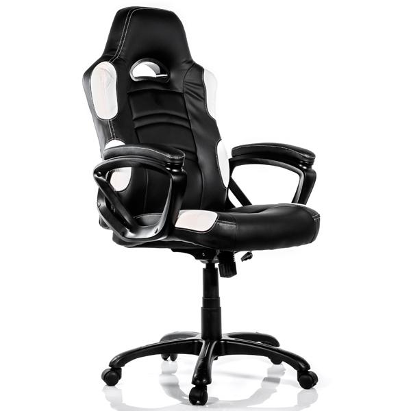 Игровое кресло Arrozzi enzo-wh, белый/черный фото