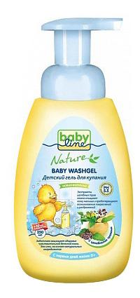 Гель для купания babyline с целебными травами для детей с первых дней жизни, 260 мл фото