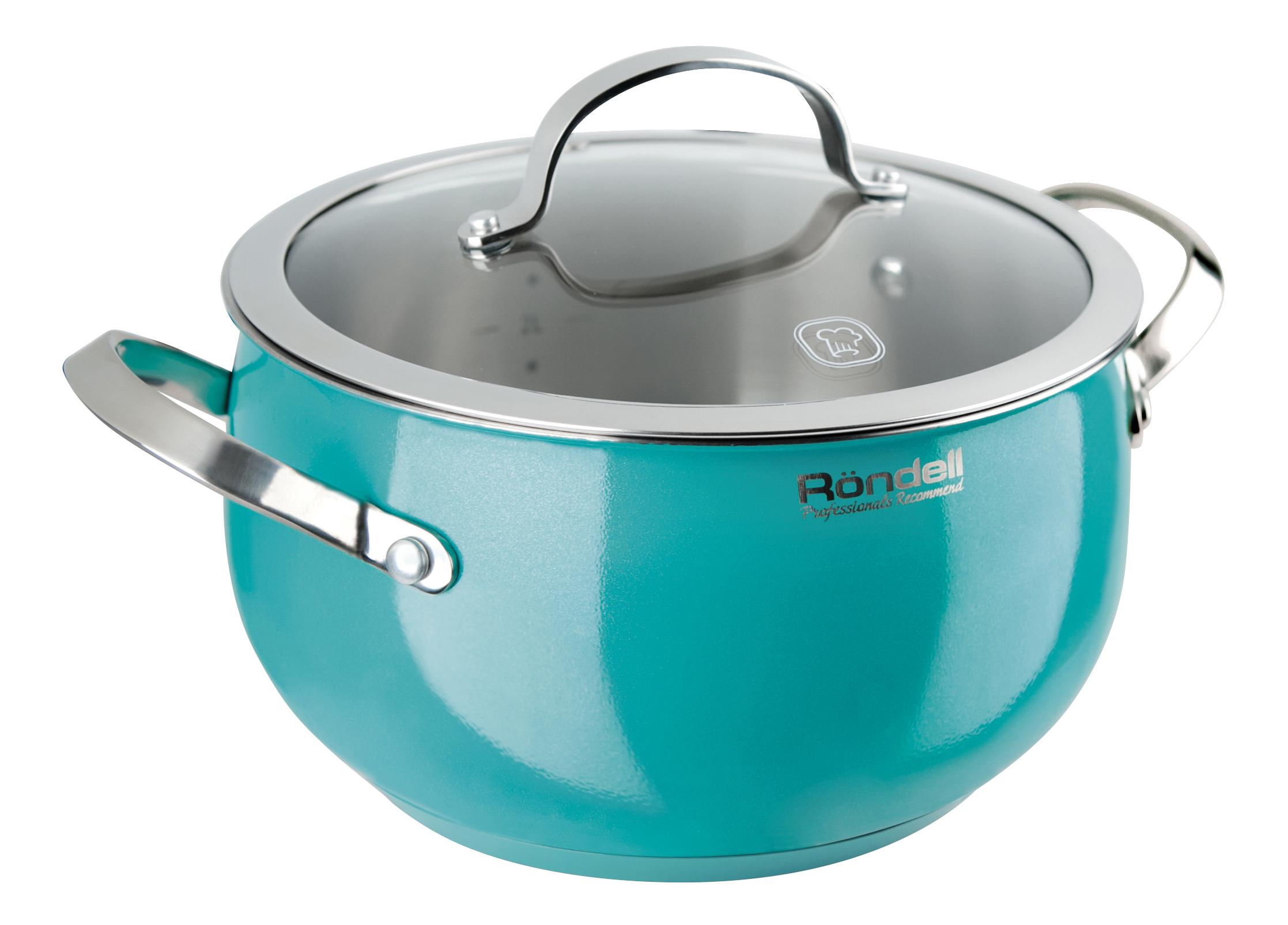 Кастрюля Röndell turquoise 5.8л фото