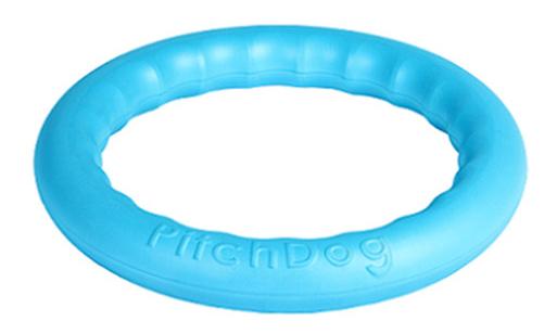 Апорт для собак PitchDog Игровое кольцо, голубое,