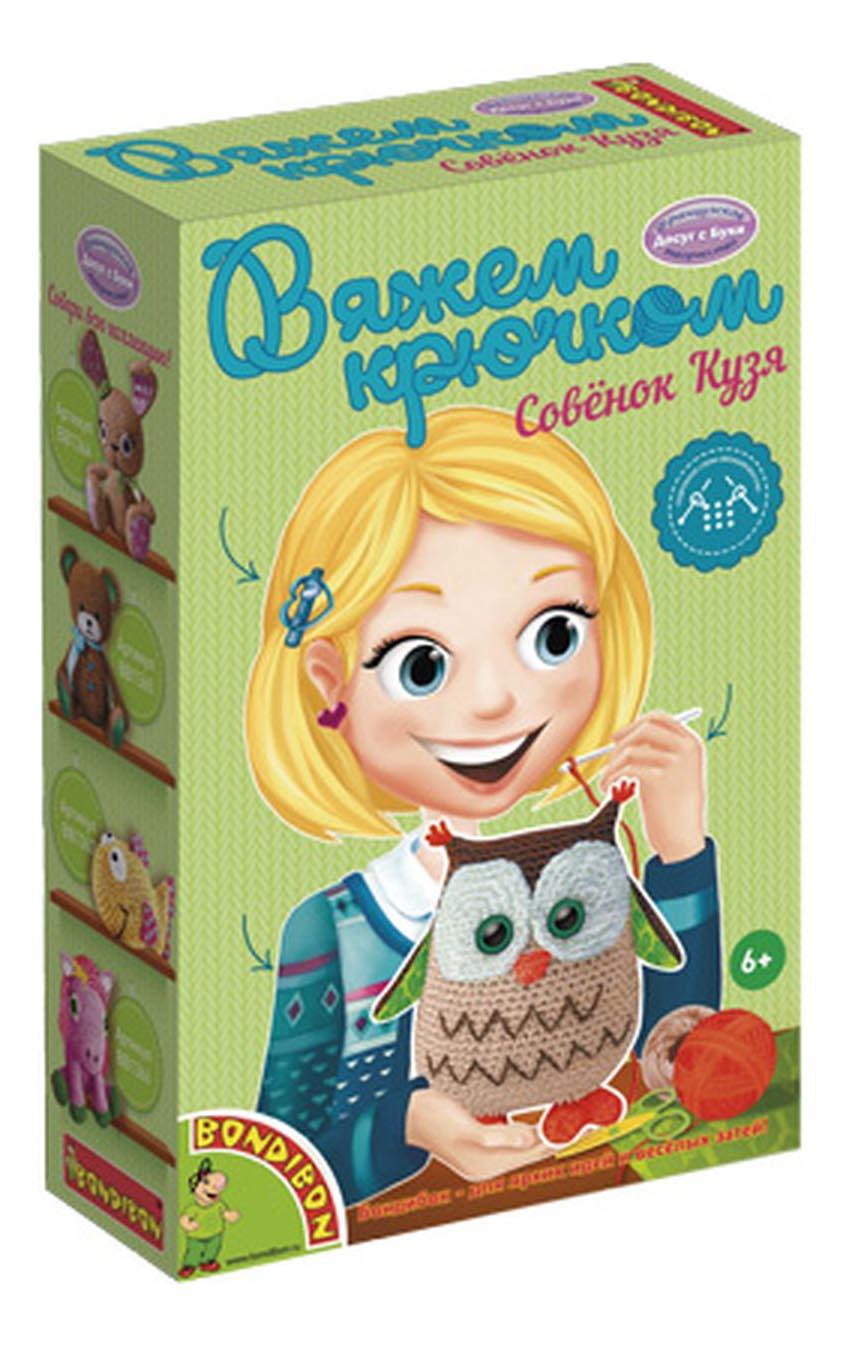 Набор для творчества Bondibon Вязание крючком Совенок Кузя (ВВ1363) фото