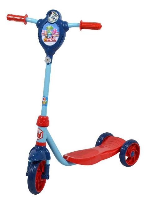 Купить Самокат трехколесный 1 Toy Фиксики Т58419 красно-голубой, Самокаты детские трехколесные