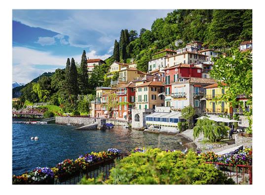 Купить Озеро Комо в Италии 500 деталей, Пазл Ravensburger Озеро Комо в Италии 500 деталей, Пазлы