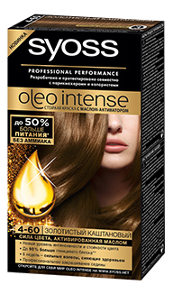 Краска для волос Syoss 4 60 Золотистый каштановый
