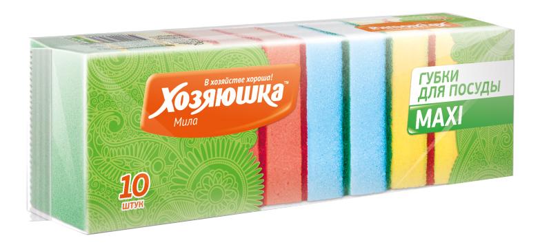 Губка для посуды Хозяюшка Мила Maxi 10шт