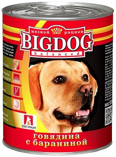Консервы для собак ЗООГУРМАН Big Dog, говядина с бараниной, 850г фото