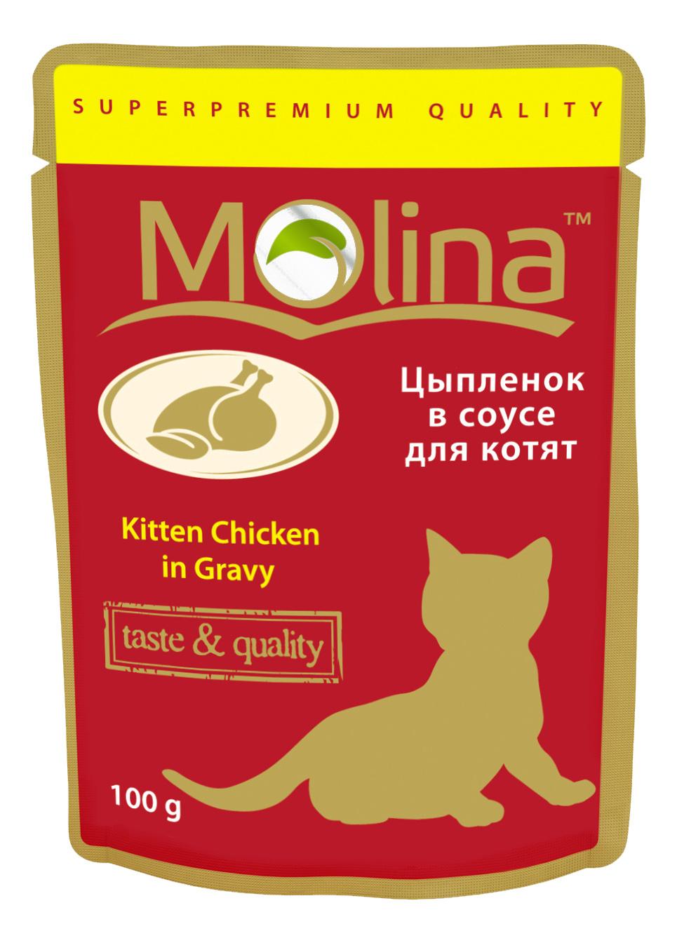 Влажный корм для котят Molina, цыпленок, 100г