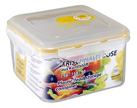 Контейнер для хранения пищи STAHLBERG Вакуумный 1250 мл желтый фото