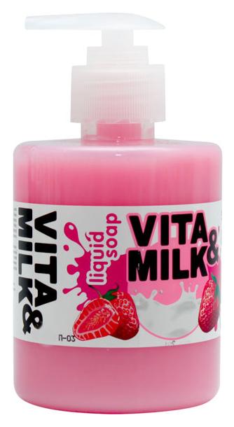 Жидкое мыло VITA&MILK Клубника и молоко