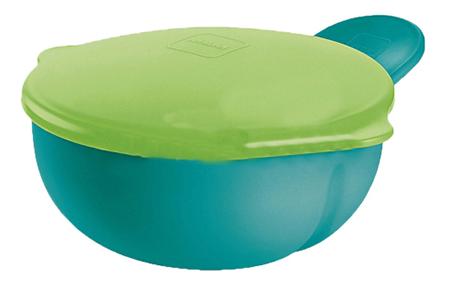Купить Тарелка зеленая с крышкой, Тарелка детская MAM Тарелка зеленая с крышкой, Детские тарелки