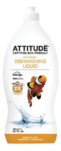 Средство для мытья посуды Attitude грейпфрут и бергамот 700 мл фото