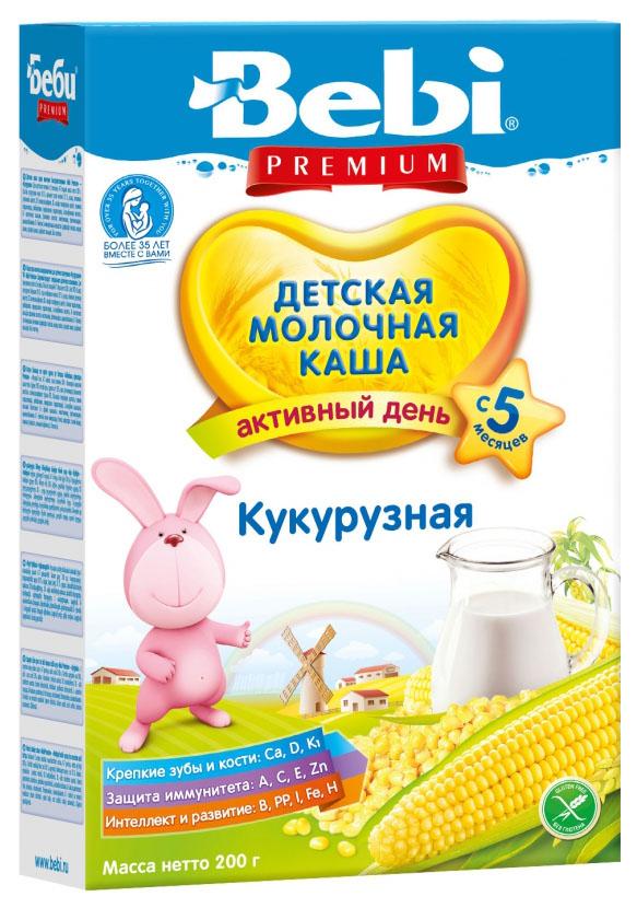 Купить Кукурузная 200 г, Молочная каша Bebi Кукурузная с 5 мес 200 г, Детские каши