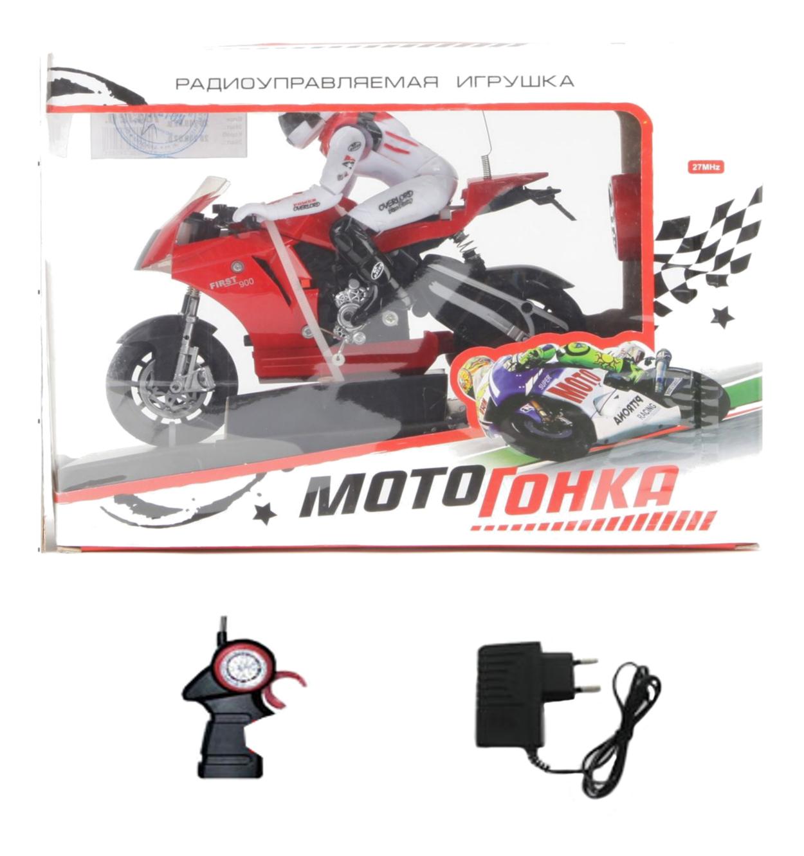 Игрушечный Мотоцикл радиоуправляемый мотогонка на аккум Zhorya