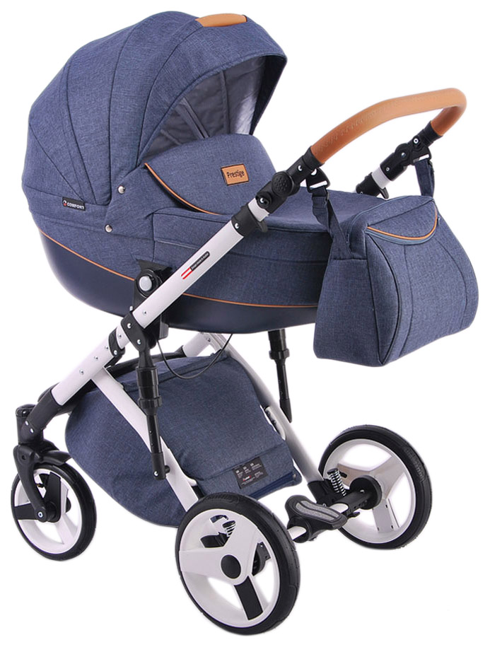 Коляска 2 в 1 Lonex Comfort Prestige синий, Детские коляски 2 в 1  - купить со скидкой