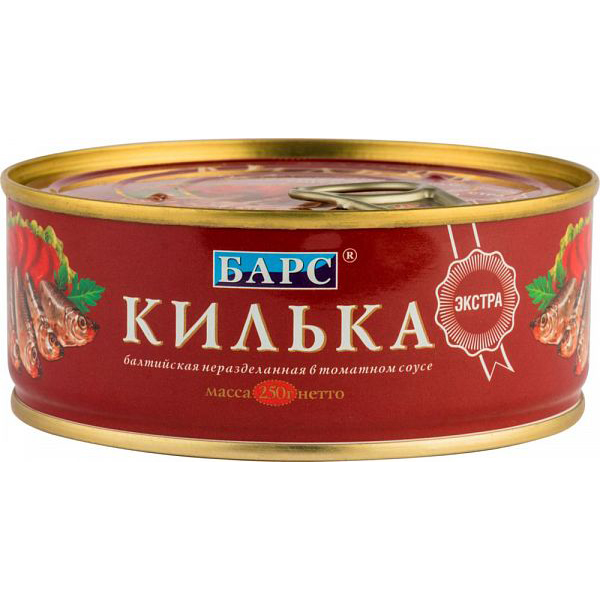 Килька балтийская томатном соусе