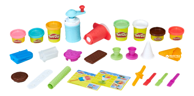 Набор для лепки Создай любимое мороженое Hasbro Play-Doh E0042 фото