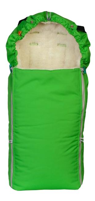 Купить Зимний меховой конверт Комфорт ярко-зеленый Чудо Чадо ККМ04-001, Конверты в коляску