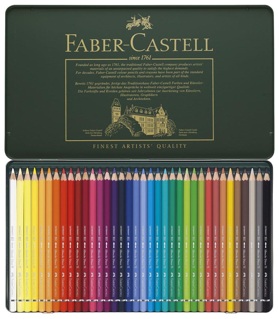 Акварельные карандаши Faber-Castell ALBRECHT DÜRER в металлической коробке, 36 шт фото