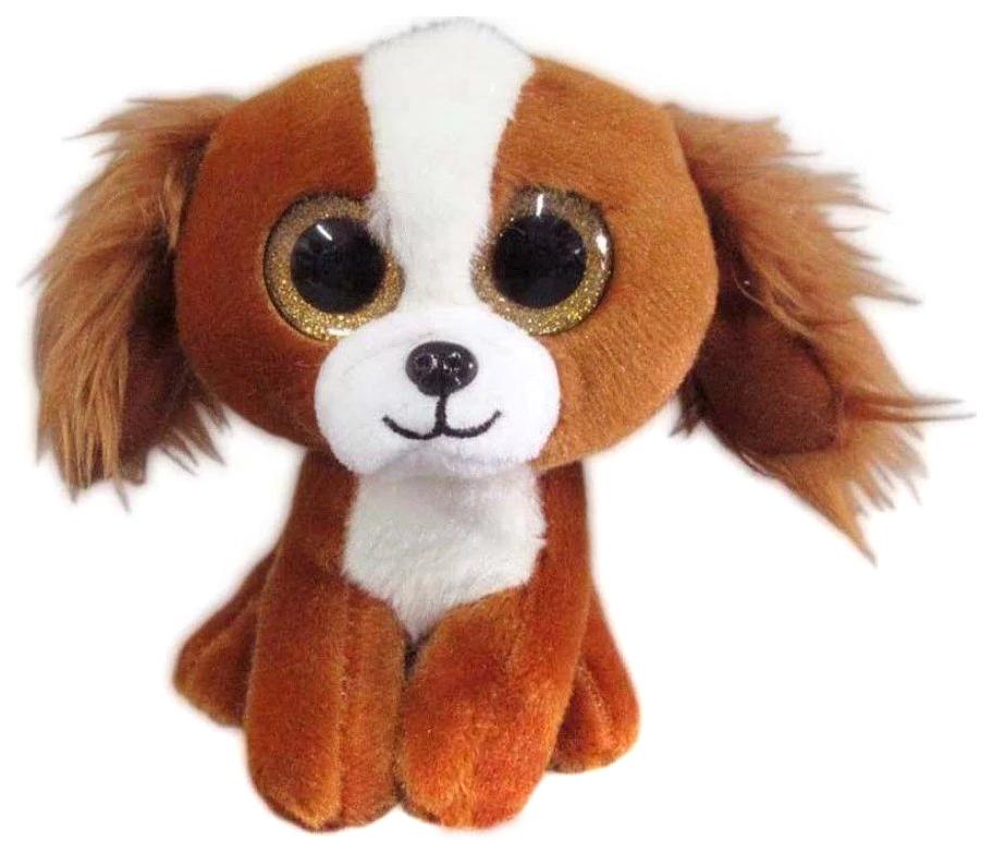 Купить 15 см Коричневая, Мягкая игрушка ABtoys Собачка коричневый 15 см, Мягкие игрушки животные