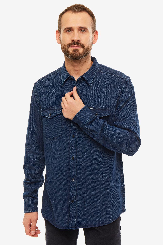 Рубашка мужская Wrangler синяя