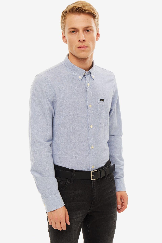 Рубашка мужская Lee синяя