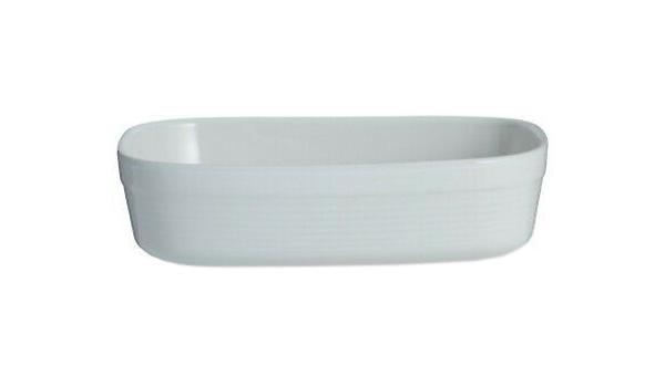 Блюдо для запекания William Mason прямоугольное 24 см белое фото