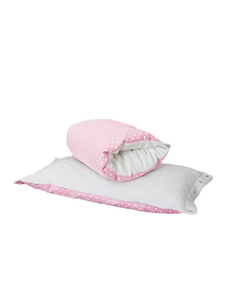 Подушка-трансформер TI AMO МАМА на руку Magic Pillow розовый горох+молочный