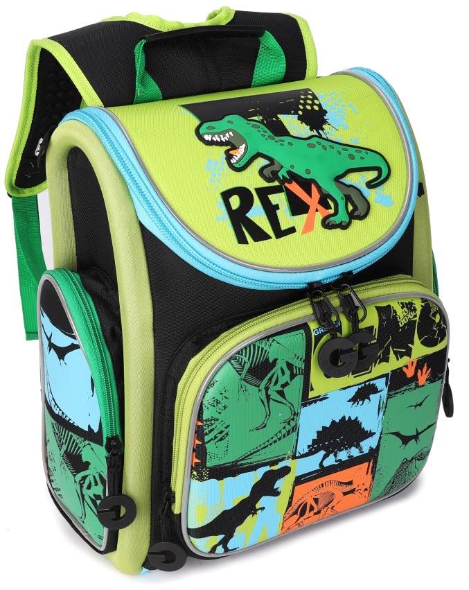 Купить Рюкзак школьный Grizzly для мальчиков Черный RA-970-5, Школьные рюкзаки и ранцы