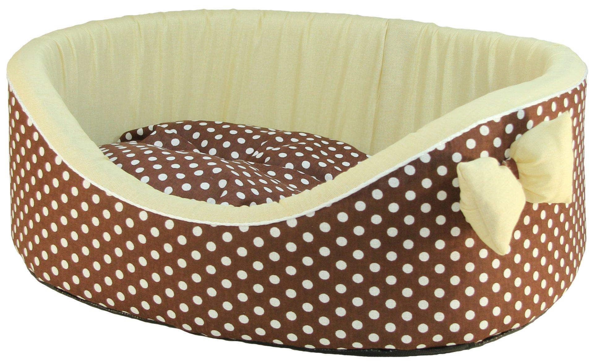 Лежак для собак и кошек Xody Премиум №4, хлопок, коричневый, 64х49х20 см