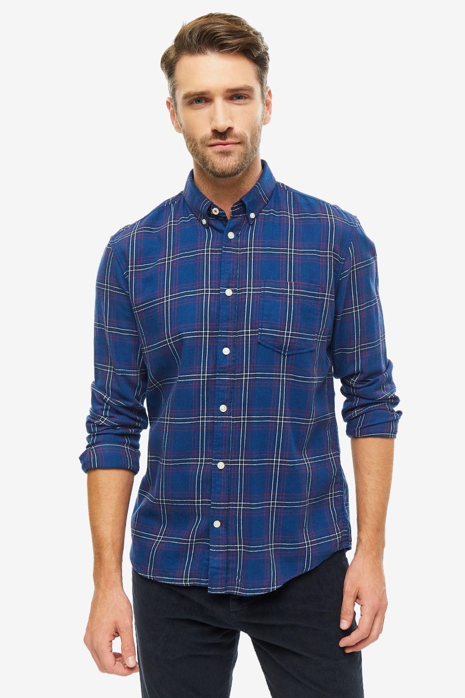 Рубашка мужская TOM TAILOR 1013528-19559 синяя 2XL