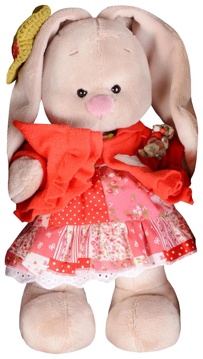 Купить Мягкая игрушка Budi Basa Зайка в маково-красном платье, 25 см, Зайка Ми, Мягкие игрушки животные