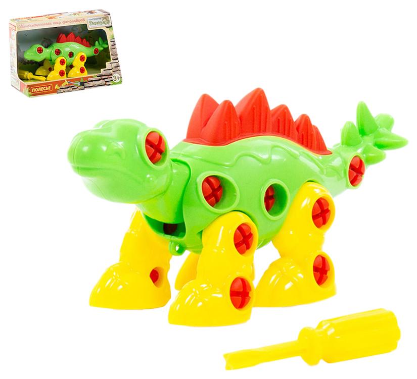 Конструктор Стегозавр (30 элементов), Полесье, Конструкторы пластмассовые  - купить со скидкой