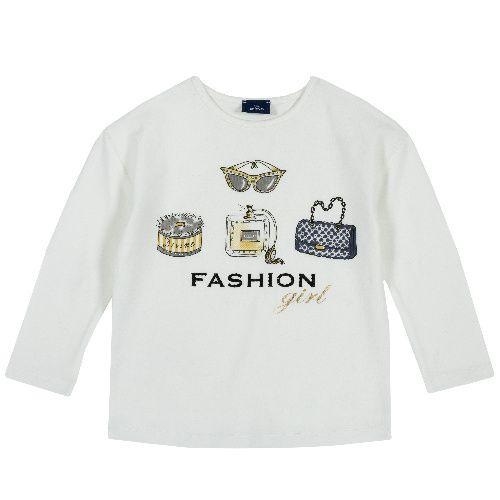 Купить 9006428, Лонгслив Chicco для девочек р.92 цв.белый, Кофточки, футболки для новорожденных