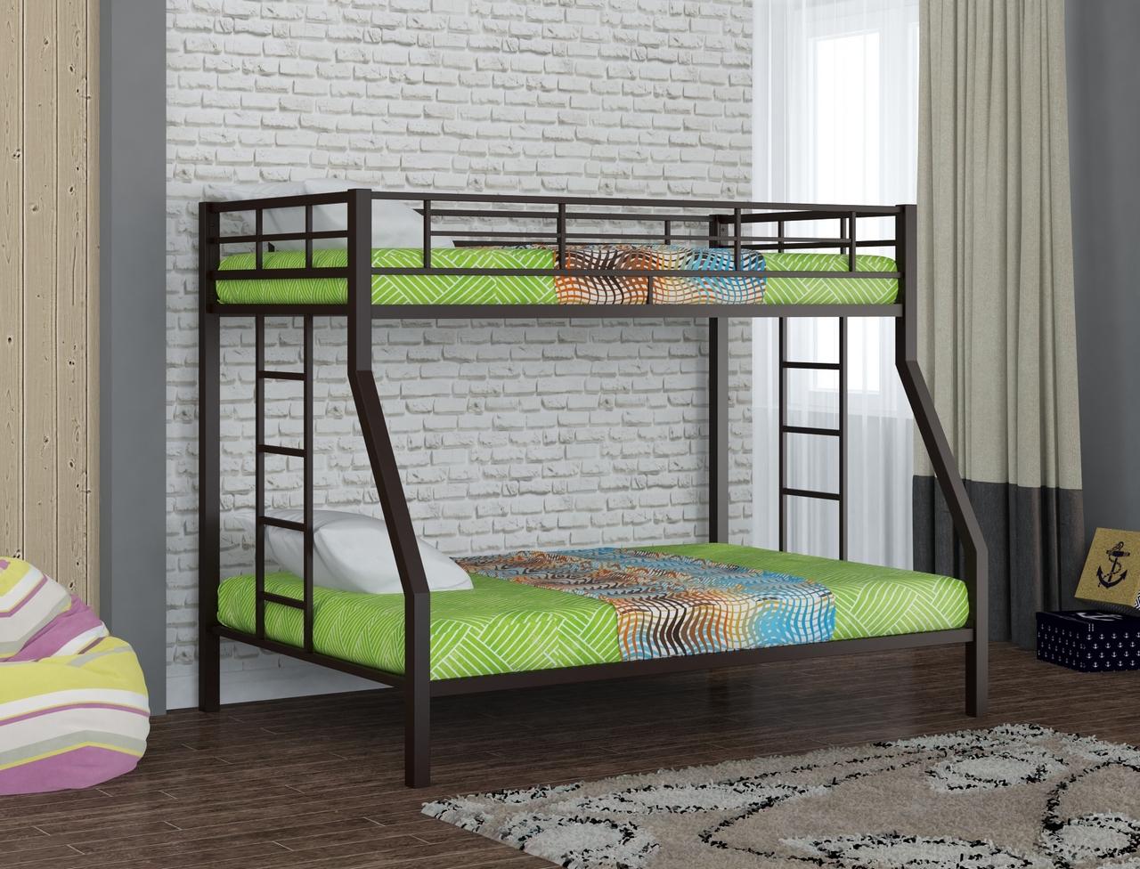 Металлическая двухъярусная кровать Redford Гранада Коричневый